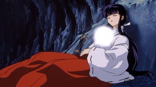 Kikyo and Kagome: Alone in the Cave